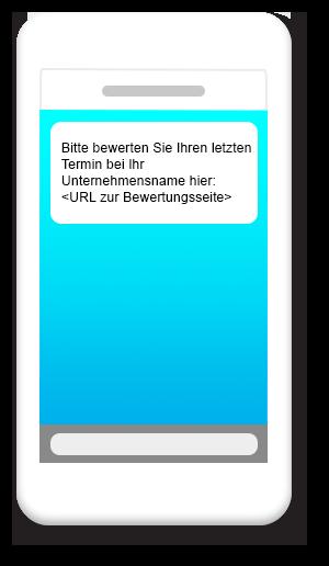 Bewertungsanfrage für Kunden (SMS)