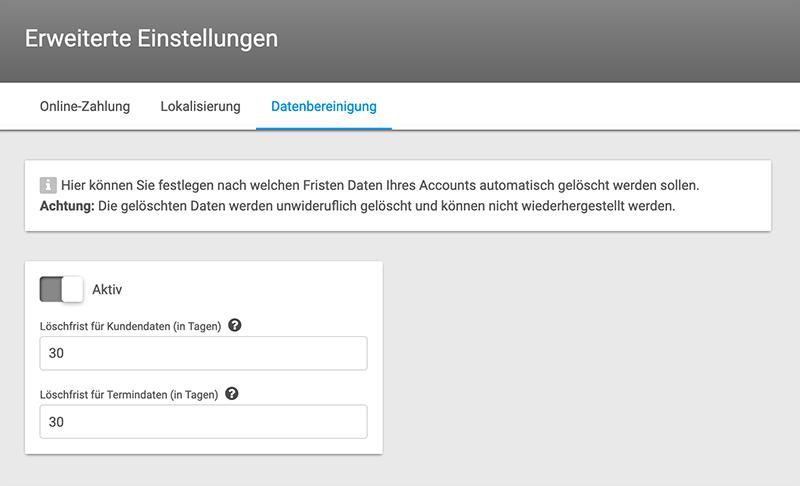 Datenbereinigung/Löschkonzept