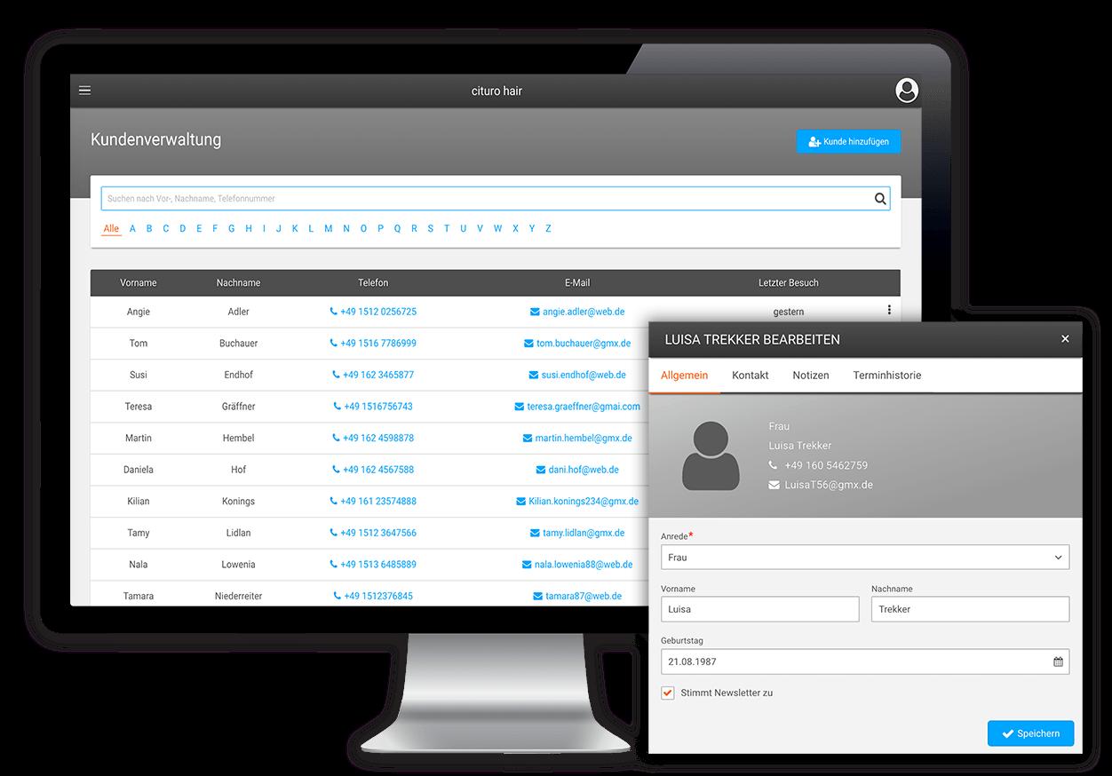 Effiziente Kundenverwaltung mit unserer Friseur-Software