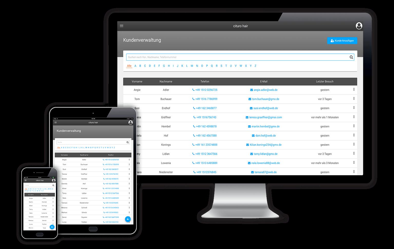 Ihre Digitale Kundenverwaltung ist für alle Endgeräte optimiert und weltweit verfügbar