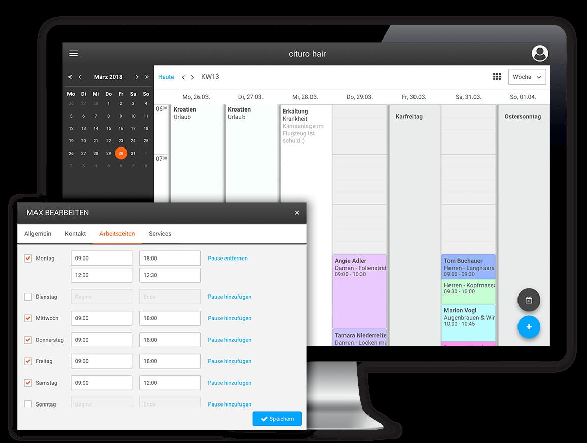 Einfache und effiziente Online-Terminverwaltung mit unserem Online-Terminkalender und der Online-Terminbuchung