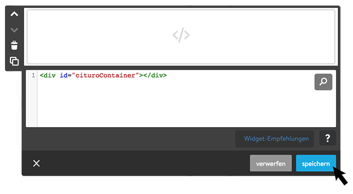 Code einfügen