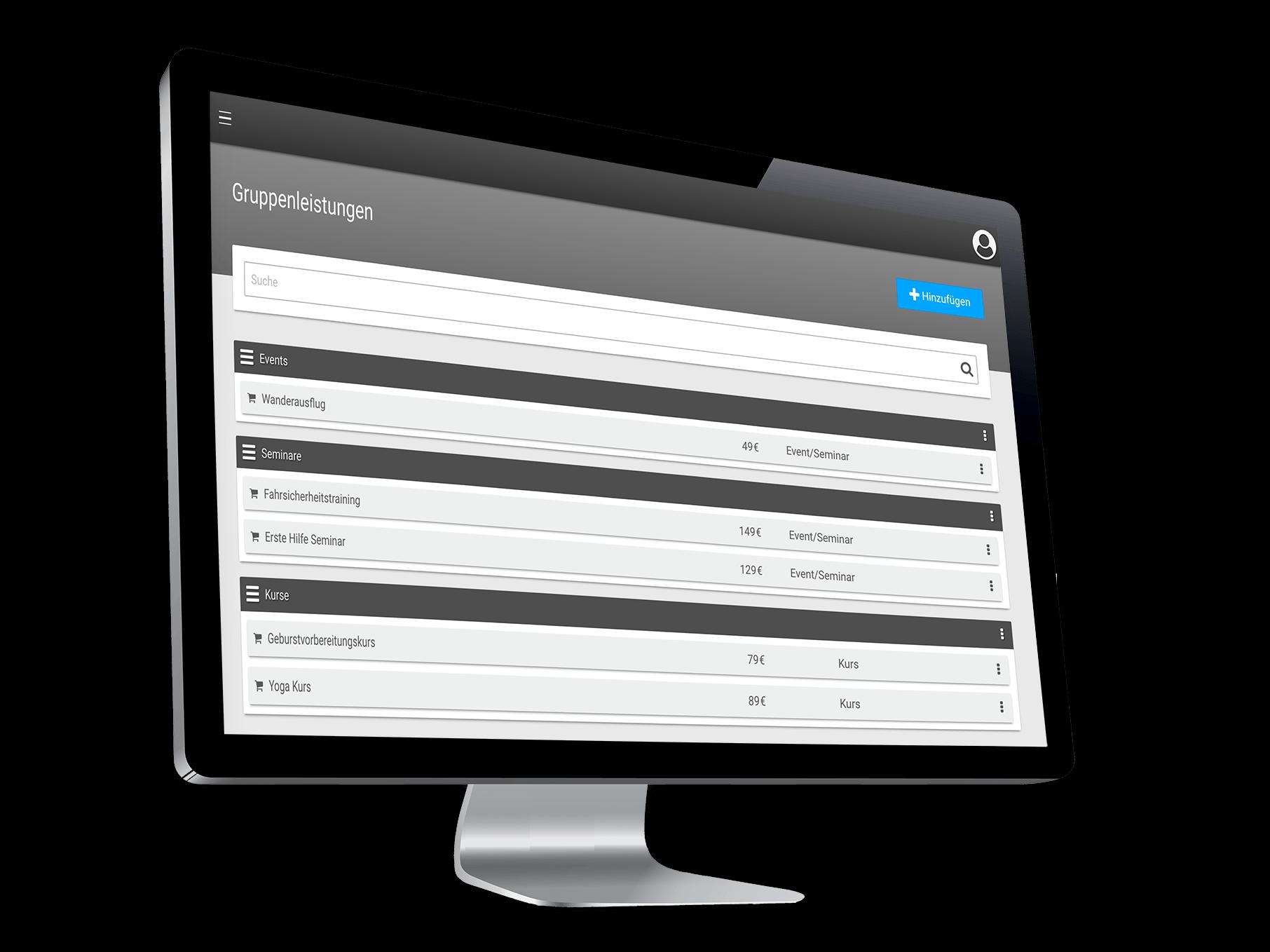 Online Kursplanungs- und verwaltungssoftware mit Onlinebuchung