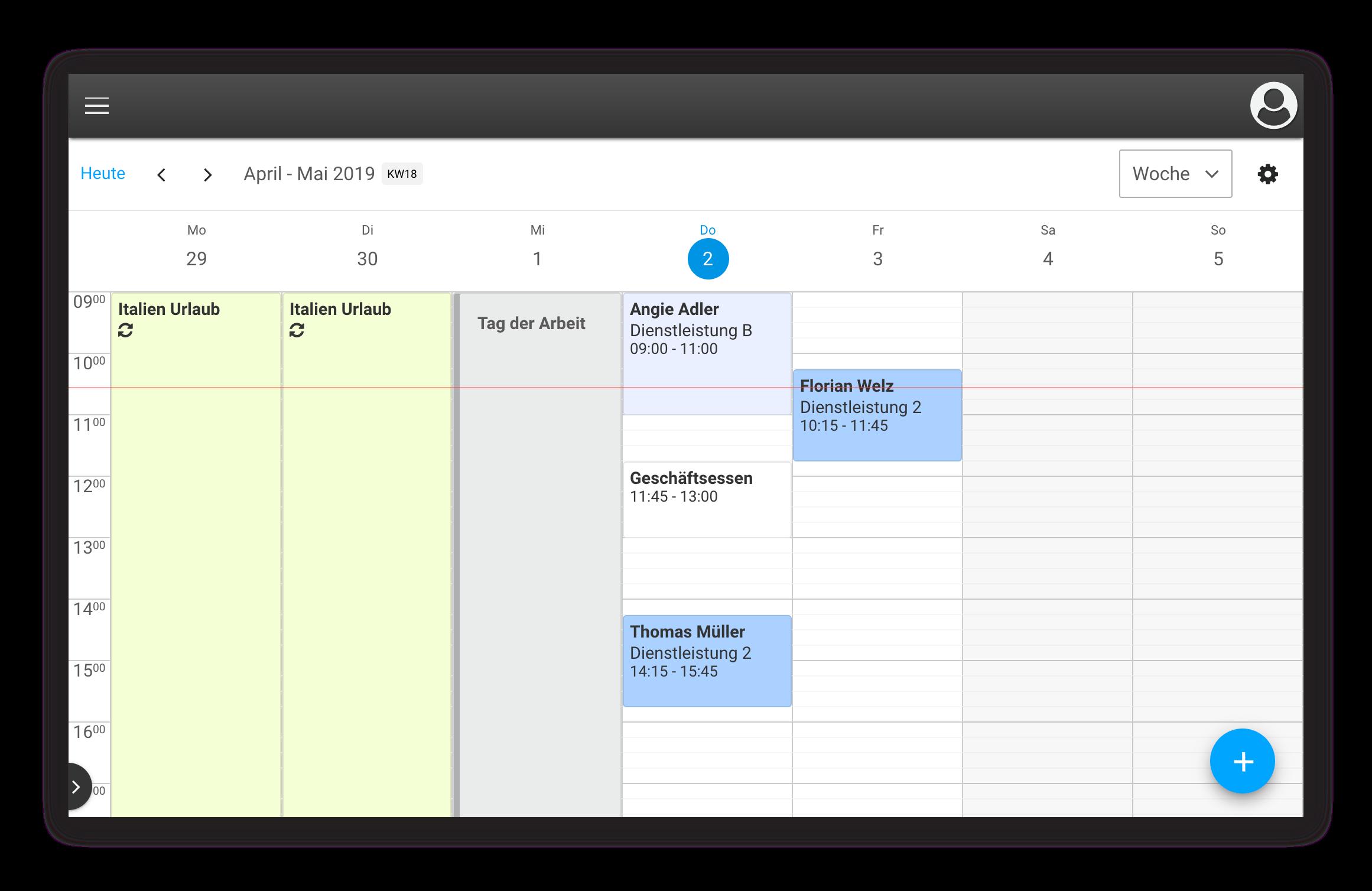 Die digitale Schichtplanung erlaubt eine flexbile Gestaltung der An- und Abwesenheiten Ihres Teams