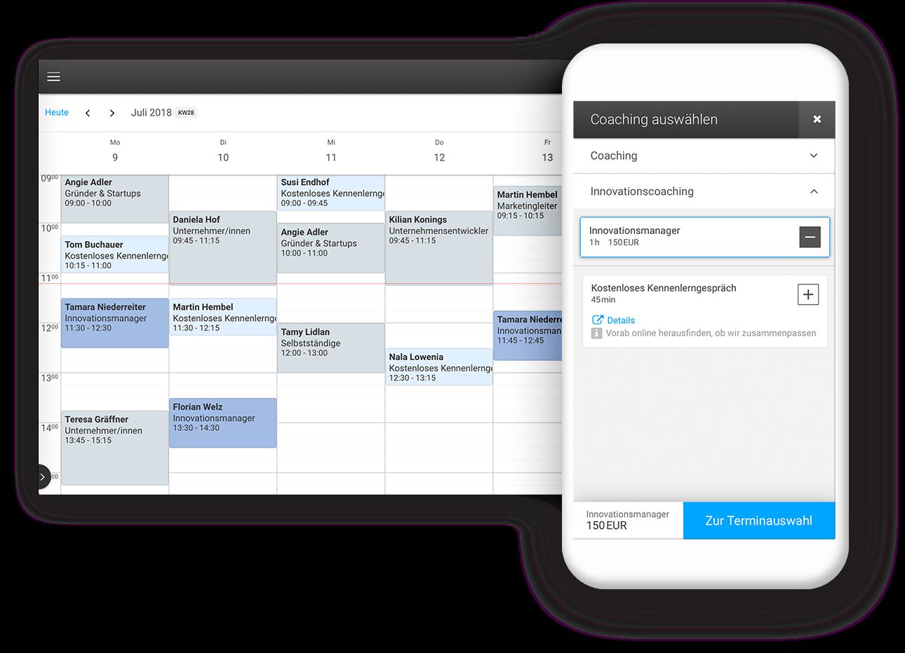 Profitieren Sie von der digitalen Terminverwaltung unserer Coaching-Software