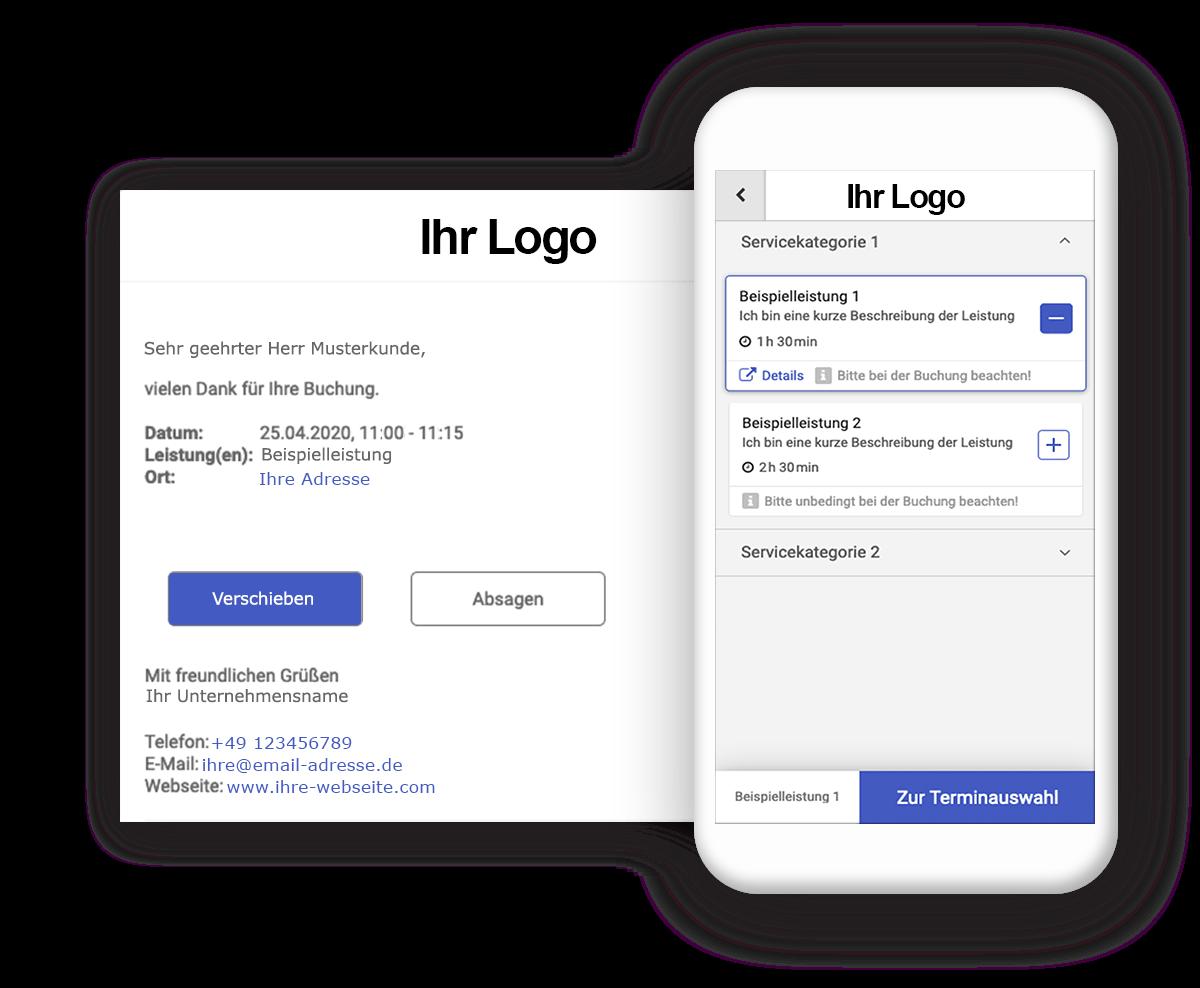 Individuelles Design der Onlinebuchung