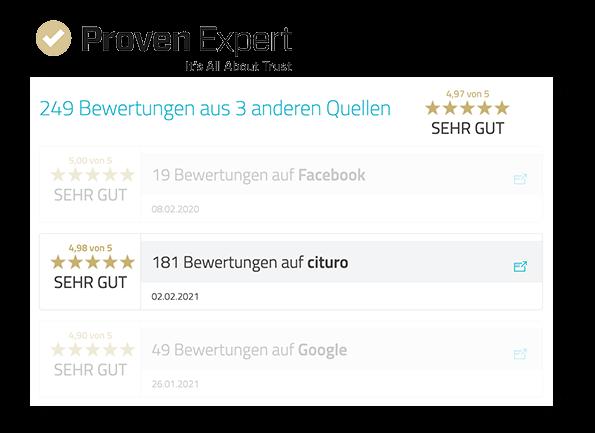 ProvenExpert Integration - Alle Bewertungen in einem Profil
