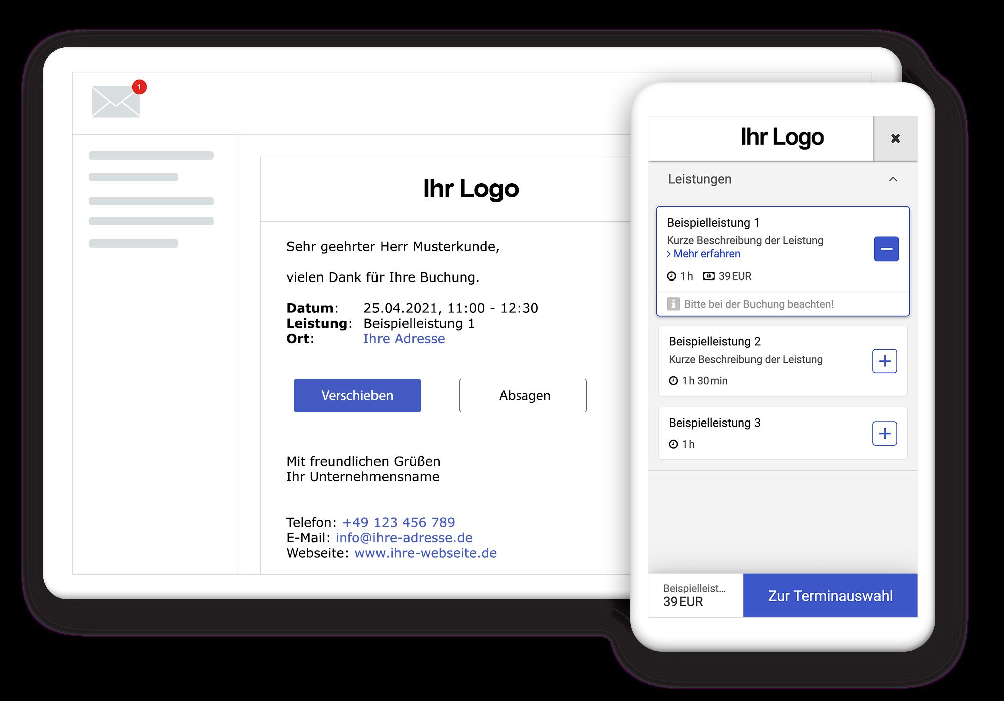 Individuelles Design Ihres Buchungswidgets